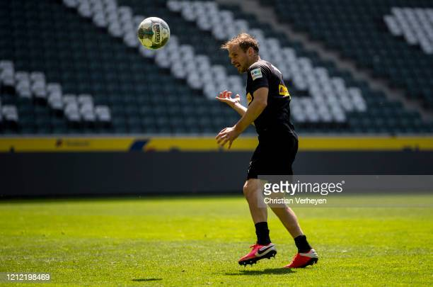 Tony Jantschke in action during a training session of Borussia Moenchengladbach at BorussiaPark on May 08 2020 in Moenchengladbach Germany