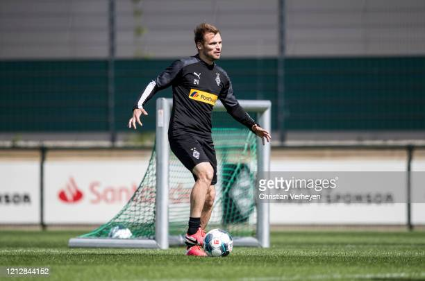 Tony Jantschke in action during a training session of Borussia Moenchengladbach at BorussiaPark on May 11 2020 in Moenchengladbach Germany