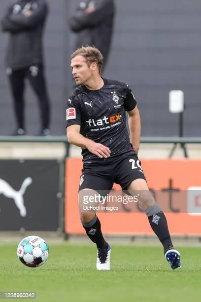 Tony Jantschke of Borussia Moenchengladbach controls the ball during the test match between Borussia Moenchengladbach and Fortuna Duesseldorf at...