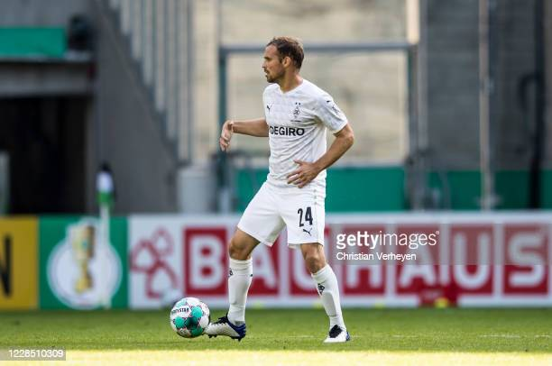 Tony Jantschke of Borussia Moenchengladbach in action during the first round DFB Cup match between FC Oberneuland and Borussia Moenchengladbach at...