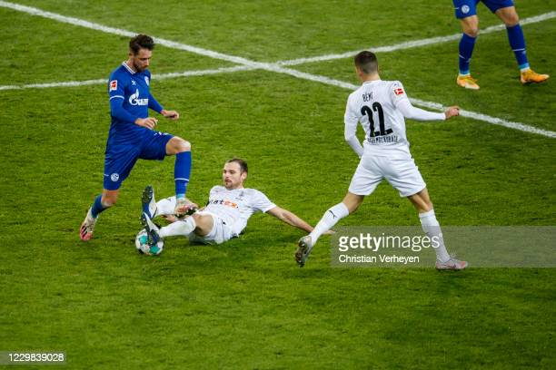 Tony Jantschke of Borussia Moenchengladbach in action during the Bundesliga match between Borussia Moenchengladbach and FC Schalke 04 at...