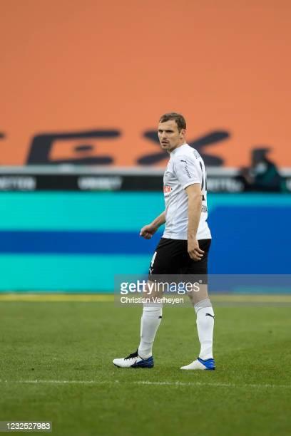 Tony Jantschke of Borussia Moenchengladbach in action during the Bundesliga match between Borussia Moenchengladbach and DSC Arminia Bielefeld at...