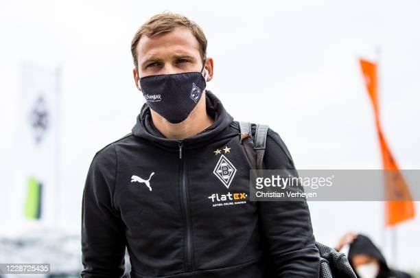Tony Jantschke of Borussia Moenchengladbach is seen ahead the Bundesliga match between Borussia Moenchengladbach and 1 FC Union Berlin at...