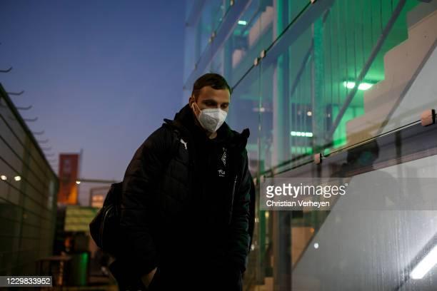 Tony Jantschke of Borussia Moenchengladbach is seen before the Bundesliga match between Borussia Moenchengladbach and FC Schalke 04 at Borussia-Park...