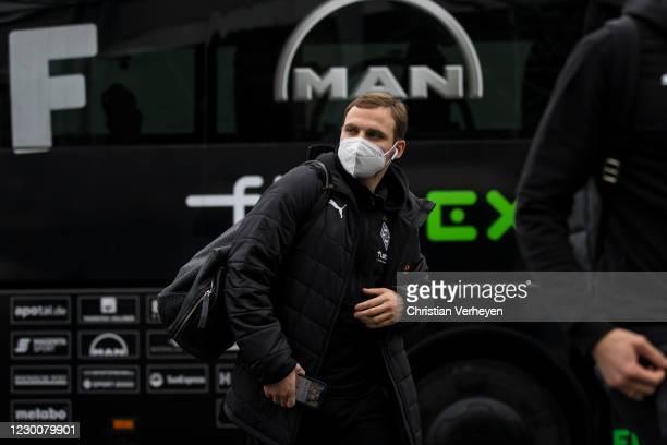 Tony Jantschke of Borussia Moenchengladbach is seen before the Bundesliga match between Borussia Moenchengladbach and Hertha BSC at Borussia-Park on...