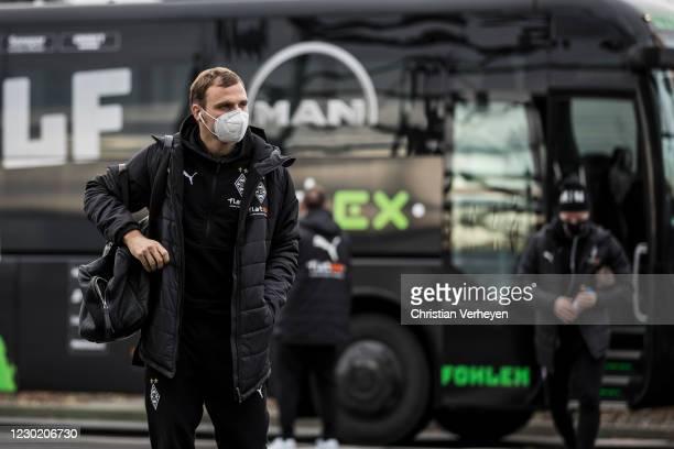 Tony Jantschke of Borussia Moenchengladbach is seen before the Bundesliga match between Borussia Moenchengladbach and TSG Hoffenheim at Borussia-Park...