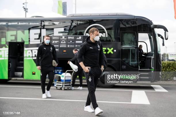 Tony Jantschke of Borussia Moenchengladbach is seen before the Bundesliga match between Borussia Moenchengladbach and Eintracht Frankfurt at...