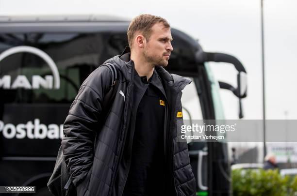 Tony Jantschke of Borussia Moenchengladbach is seen before the the Bundesliga match between Borussia Moenchengladbach and Borussia Dortmundat...