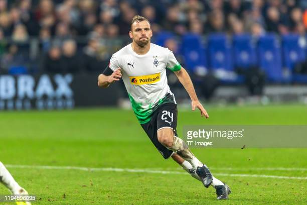Tony Jantschke of Borussia Moenchengladbach looks on during the Bundesliga match between FC Schalke 04 and Borussia Moenchengladbach at VeltinsArena...