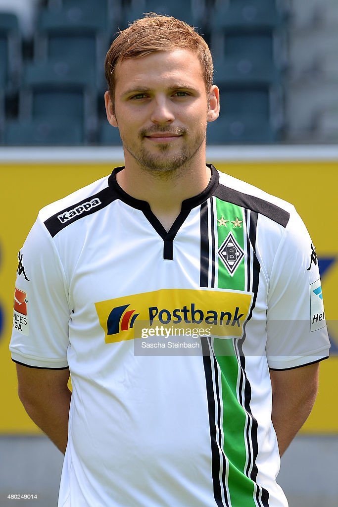 Tony Jantschke poses during the team presentation of Borussia Moenchengladbach at Borussia-Park on July 10, 2015 in Moenchengladbach, Germany.