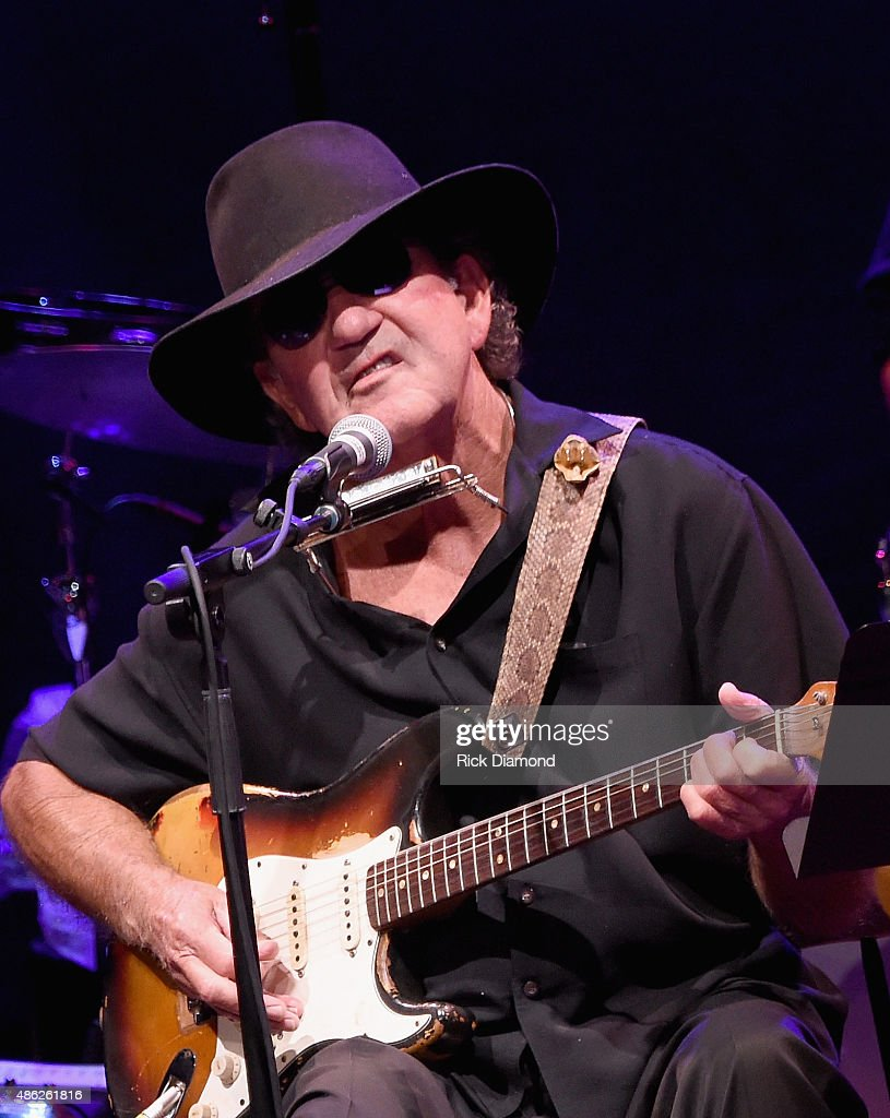 Tony Joe White performs during Rosanne Cash 'The River And The Thread' During Her First Artist-in-Residence Show at The Country Music Hall of Fame and Museum on September 2, 2015 in Nashville, Tennessee.