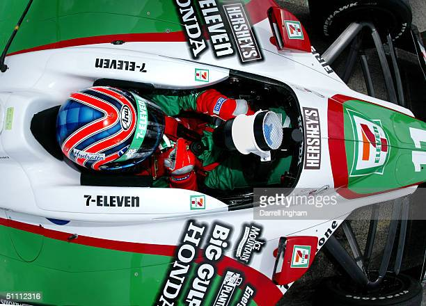 Tony Kanaan aboard the Andretti Green Racing Team 7Eleven Honda Dallara during practice for the Indy Racing League IndyCar Series Menards AJFoyt Indy...