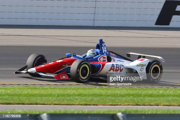 Tony Kanaan driver of the ABC Supply AJ Foyt Racing Chevrolet during the IndyCar Series ABC Supply 500 on August 18 2019 at Pocono Raceway in Long...