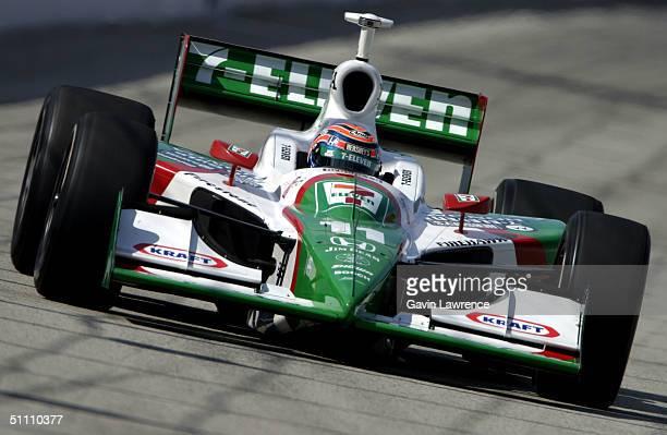 Tony Kanaan drives the Andretti Green Racing Team 7Eleven Honda Dallara during practice for the Indy Racing League IndyCar Series Menards AJ Foyt...