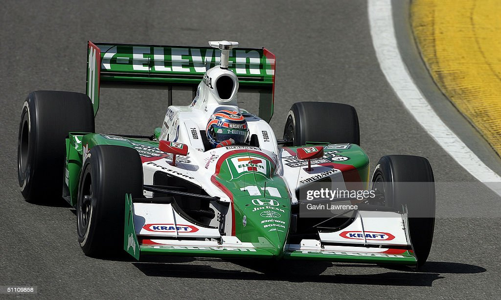 Tony Kanaan driving the #11 Andretti Green Racing Team 7-Eleven Honda Dallara during practice for the Indy Racing League IndyCar Series Menards A.J.Foyt Indy 225 on July 23, 2004 at the Milwaukee Mile in Milwaukee, Wisconsin.