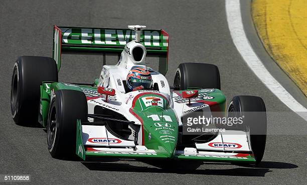 Tony Kanaan driving the Andretti Green Racing Team 7Eleven Honda Dallara during practice for the Indy Racing League IndyCar Series Menards AJFoyt...
