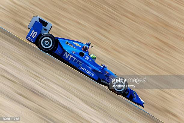 Tony Kanaan of Brazil drives the NTT Data Chip Ganassi Racing Chevrolet Dallara during practice for the GoPro Grand Prix of Sonoma at Sonoma Raceway...