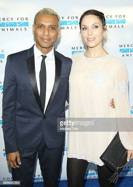 Tony Kanal and Erin Lokitz arrive at the Mercy for animals The Hidden Heroes Gala held at Unici Casa on August 29 2015 in Culver City California