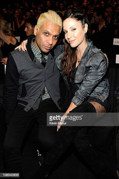 Tony Kanal and Erin Lokitz attends the LAMB Spring 2011 fashion show during MercedesBenz Fashion Week at The Theater at Lincoln Center on September...