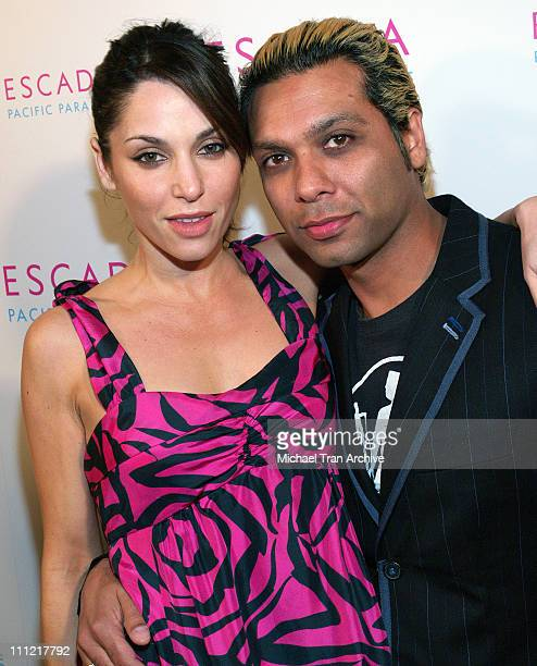 Tony Kanal and Erin Lokitz during Launch of Escada's Newest Scent Pacific Paradise at Lobby in West Hollywood California United States