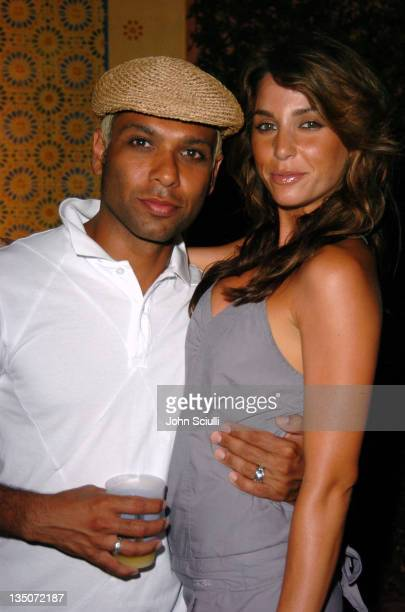 Tony Kanal and Erin Lokitz during Stuff Magazine and Virgin Mobile VMA Party Hosted by Missy Elliot and Dave Meyers Arrivals at Star Island in Miami...