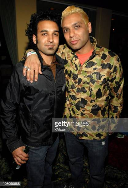 Tony Kanal and his brother Neal during 2006 Coachella Valley Music and Arts Festival Spin Magazine Party at South Beach in Palm Desert California...