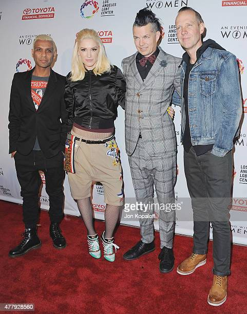 Tony Kanal, Gwen Stefani, Adrian Young and Tom Dumont of No Doubt arrive at An Evening With Women Benefitting The Los Angeles LGBT Center at...