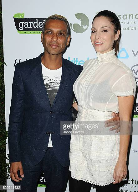 Tony Kanal of No Doubt and wife Erin Lokitz attend Farm Sanctuary's 30th anniversary gala at the Beverly Wilshire Four Seasons Hotel on November 12...