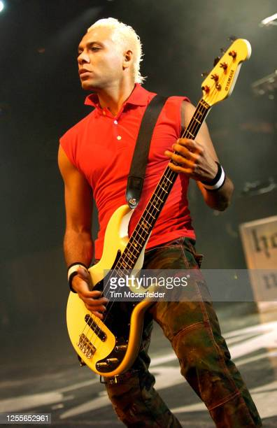 Tony Kanal of No Doubt performs at Shoreline Amphitheatre on June 19, 2004 in Mountain View, California.
