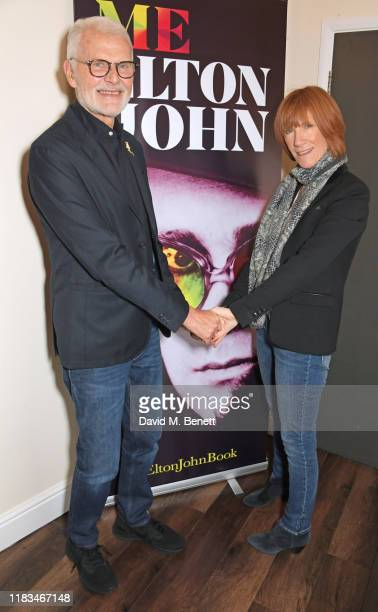 Tony King and Kiki Dee celebrate the publication of Sir Elton's autobiography Me in conversation with David Walliams at the Eventim Apollo...
