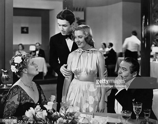 Tony Kirby introduces his fiancee Alice Sycamore to his family in a scene from 1937's You Can't Take It with You