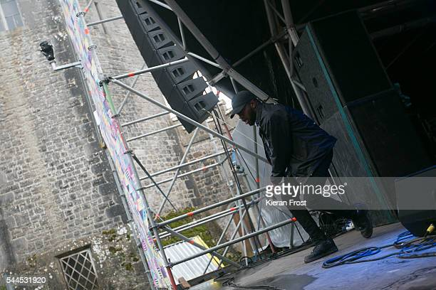 Tony Konstone of Hare Squead performs at CastlePalooza at Charville Castle on July 2, 2016 in Tullamore, Ireland.