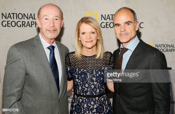 Tony Kornheiser Martha Raddatz and Michael Kelly attend 'The Long Road Home' Washington DC Premiere on October 25 2017 at National Geographic in...
