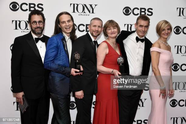 Tony Kushner Jordan Roth Rowan Ian Seamus Magee Lisa Burger the executive director of the National Theatre and Rufus Norris of 'Angels in America'...