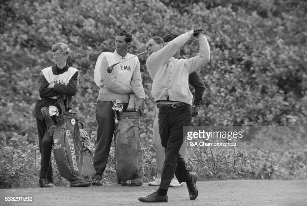 Tony Lema of USA plays a tee shot during the 1965 Open Championship at Royal Birkdale Golf Club Liverpool England