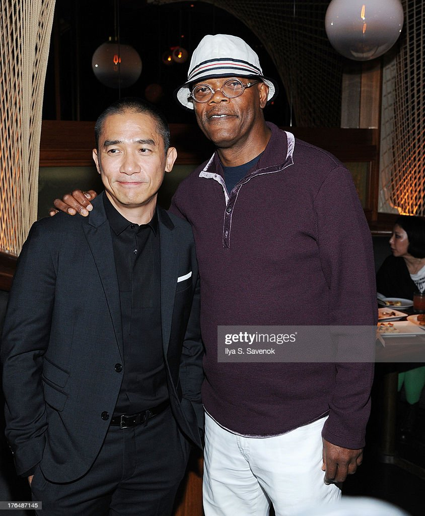 Tony Leung and Samuel L. Jackson attend 'The Grandmaster' New York Screening after party at Forty Four at the Royalton on August 13, 2013 in New York City.