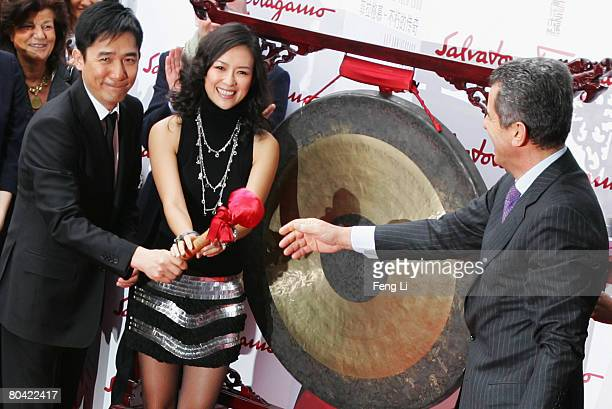 Tony Leung and Zhang Ziyi attends Salvatore Ferragamo 80th Anniversary Party on March 28 2008 in Shanghai China