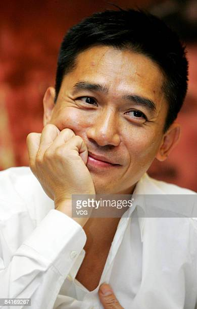 Tony Leung arrives at the premiere of Red Cliff Part 2 on January 4 2009 in Beijing China