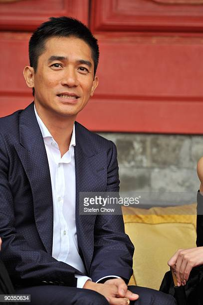 Tony Leung attends the opening of the 'Cartier Treasures' exhibition at the Forbidden City on September 4 2009 in Beijing China