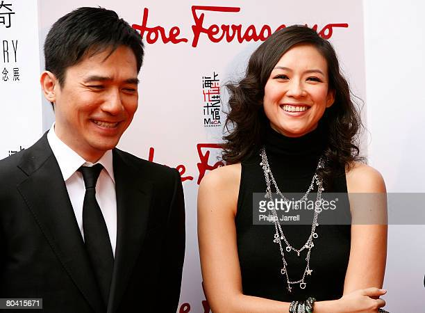 Tony Leung Chiu Wai and Zhang Ziyi attend the Salvatore Ferragamo 80th Anniversary Party on March 28 2008 in Shanghai China