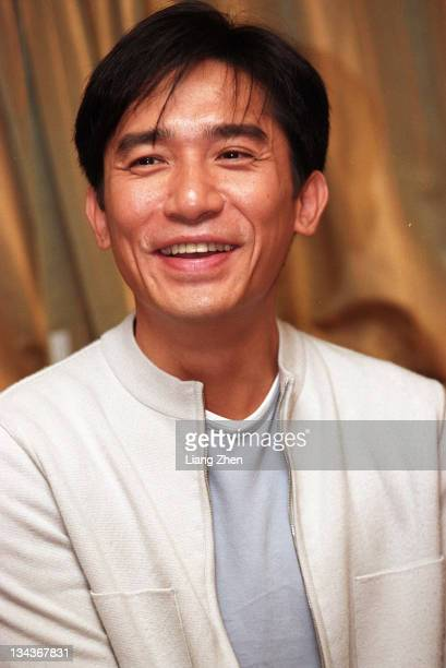 Tony Leung during Hero Shanghai Premiere Press Conference December 16 2002 in Shanghai Shanghai China