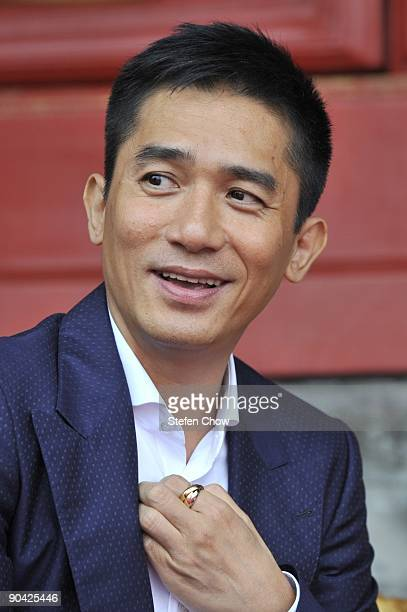 Tony Leung Hong Kong Actor attends the opening of the 'Cartier Treasures' exhibition at the Forbidden City September 4 2009 in Beijing China