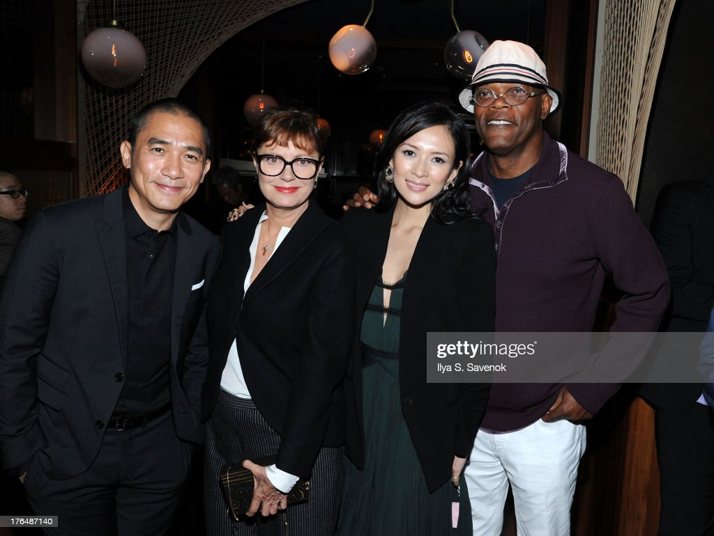 Tony Leung, Susan Sarandon, Ziyi Zhang and Samuel L. Jackson attend 'The Grandmaster' New York Screening after party at Forty Four at the Royalton on August 13, 2013 in New York City.
