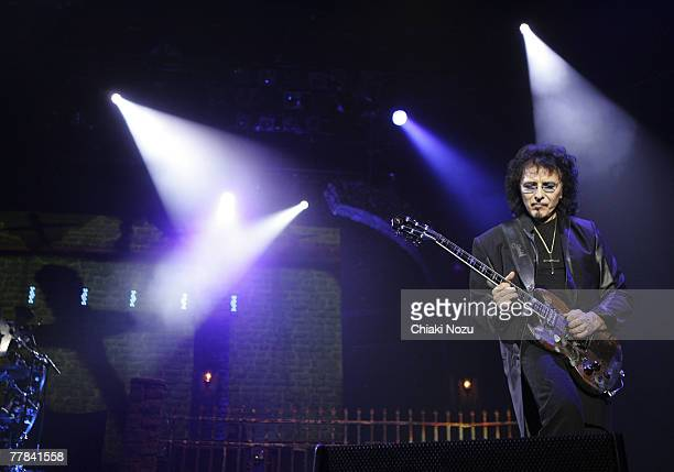 Tony Lommi of the band Heaven and Hell during a performance at Wembley Arena on November 10 2007 in London England