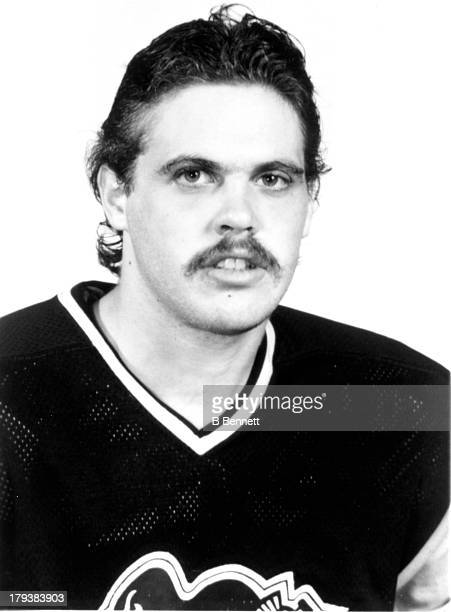 Tony MacKenzie of the Pittsburgh Penguins poses for a portrait circa 1982 in Pittsburgh Pennsylvania