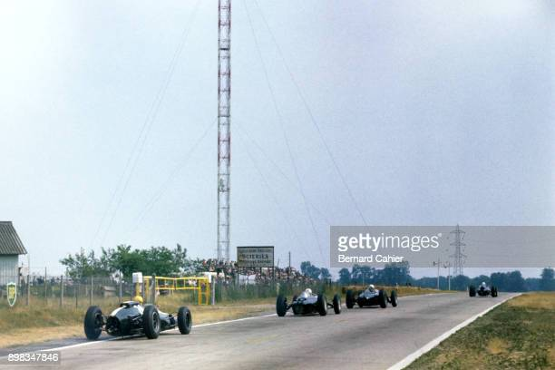 Tony Maggs John Surtees CooperClimax T60 LolaClimax Mk4 Grand Prix of France RouenLesEssarts 08 July 1962