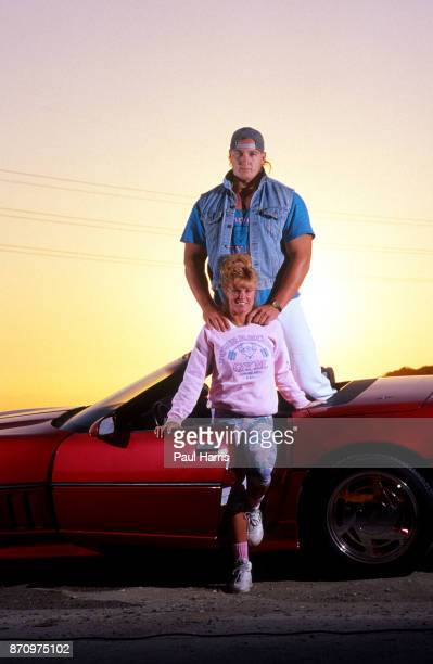 Tony Mandarich with his wife Amber Lynn and Corvette sports car is a former football offensive tackle of the NFL He was the first round draft pick of...