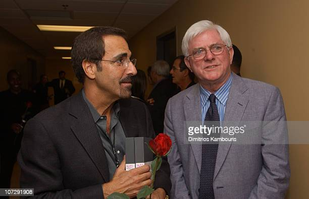 Tony Marlo and Phil Donahue during St Jude Children's Research Hospital Shower of Stars 40th Anniversary Backstage and Show at Cannon Center in...
