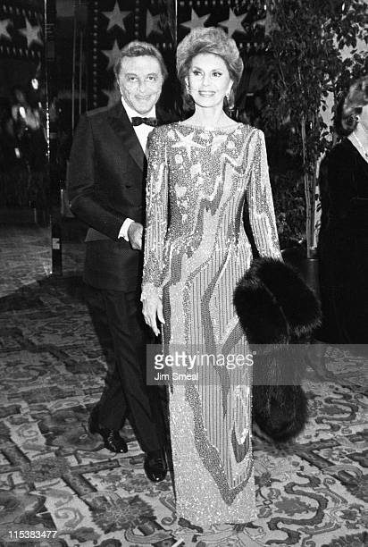 Tony Martin and Cyd Charisse during AFI Life Achievement Awards Honoring Gene Kelly at Beverly Hilton Hotel in Beverly Hills CA United States
