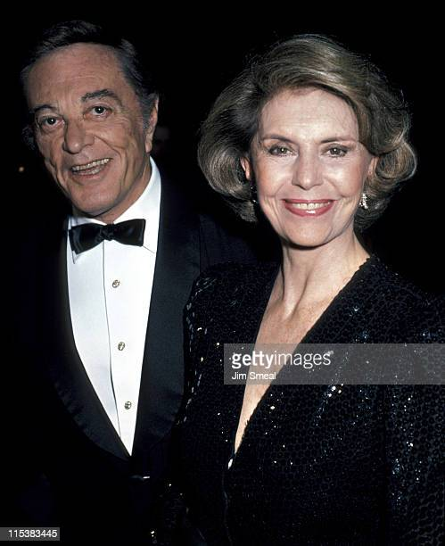 Tony Martin and Cyd Charisse during White Nights Los Angeles Premiere at Samuel Goldwyn Theater in Beverly Hills California United States